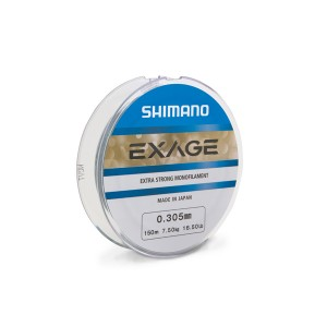 SHIMANO Nylon Monofilament - Exage 150m 0,165mm 150m 0.165mm 2.3kg Steel grey - 1