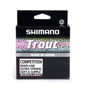 SHIMANO Lignes de pêches Monofilaments - Line Trout Competition 150m 0.12mm 1.29kg Red - 1