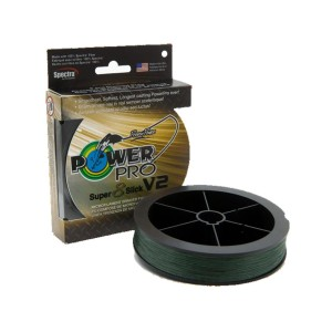 SHIMANO Tresses Moss Green - Power Pro Super 8 Slick V2 135m 0,23mm 17kg Moss Green - 1