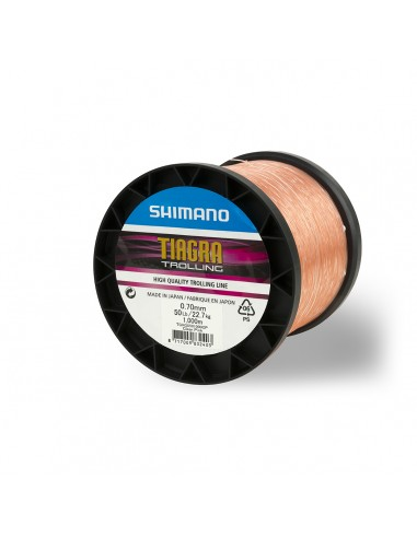 SHIMANO Tresses Orange 1000m - TIAGRA TROLLING 30LB 1000M CLEAR PINK - 1